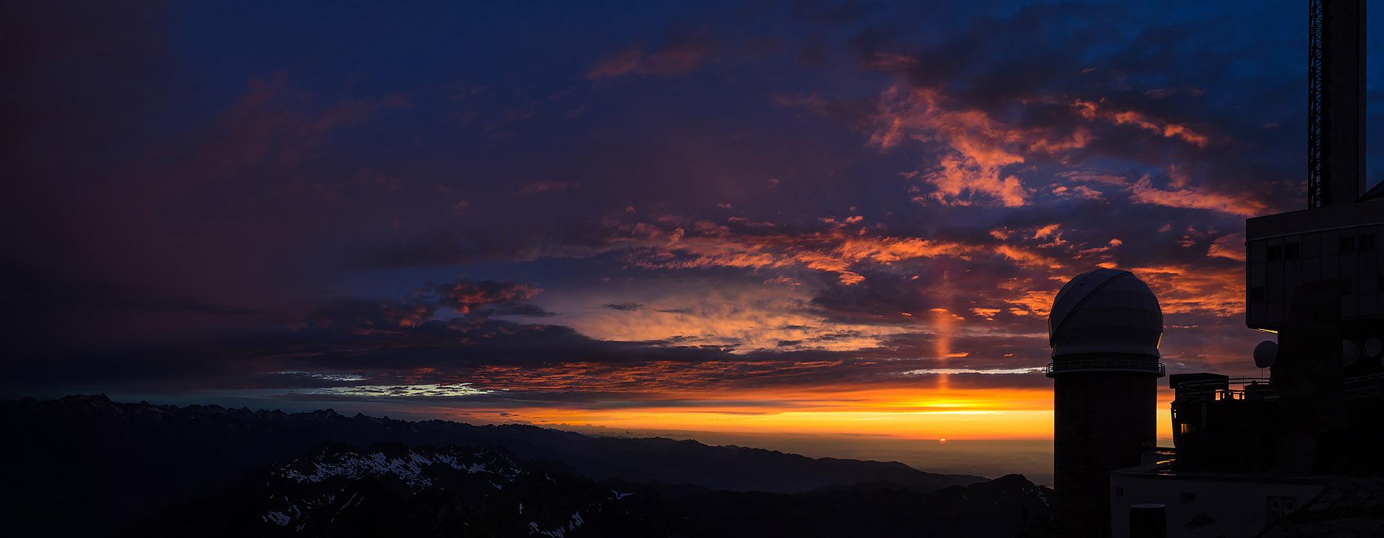 Pic du Midi de Bigorre - Apus, panorama
